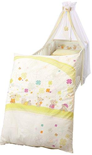 roba Kinder-Bettgarnitur 4-tlg, Babybett-Ausstattung 'Glücksbringer',...
