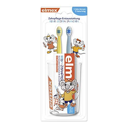 elmex Baby Zahnpflege-Erstausstattung Set - Set bestehend aus...