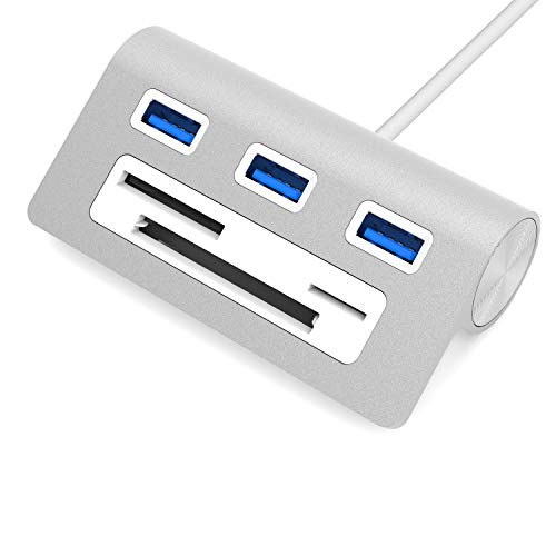 Sabrent USB HUB Premium 3 Port Aluminium USB 3.0 Hub mit Multi-In-1...