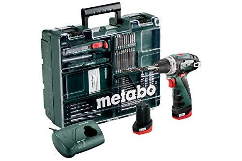 Metabo 600080880 Akku-Bohrschrauber klein PowerMaxx BS Basic Set...