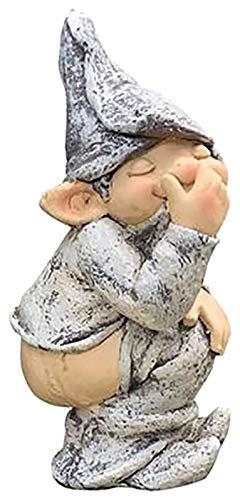 WQQLQX Statue Garten Goblin Poop Statue Garten Figuren Harz Skulptur...