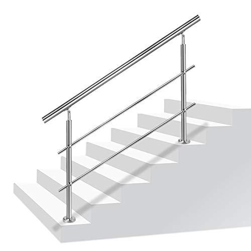 LZQ Edelstahl-Handlauf Geländer für Treppen Brüstung Balkon...