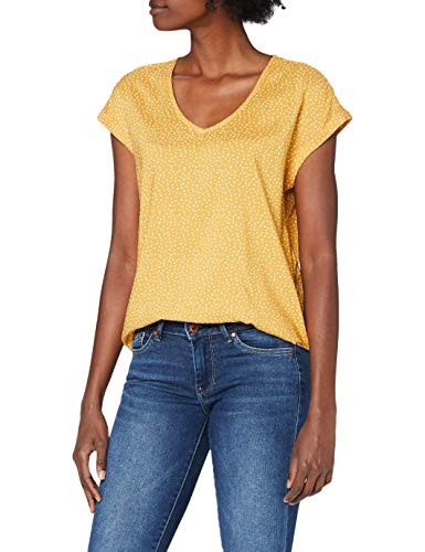 TOM TAILOR Denim Damen Sporty Bluse, 24322-yellow White dot, S