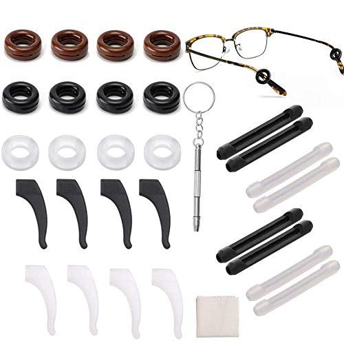14 Paar Silikon Antirutsch Gläser Ohrhaken Komfort Brillenbügel Tipp...