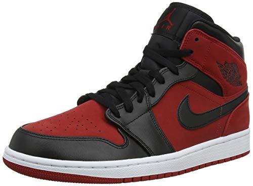 Nike Herren Air Jordan 1 Mid Basketballschuhe, Rot (Gym...