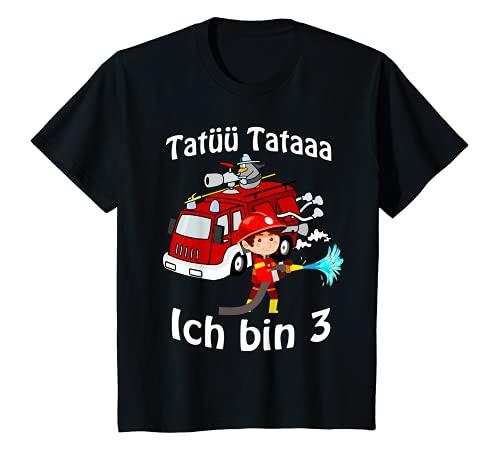 Kinder Feuerwehrmann mit Feuerwehrauto 3 Jahre Geburtstagsgeschenk...