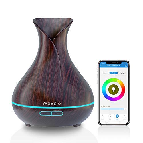 Maxcio Smart Aroma Diffuser 400ml, Ätherische Öl WLAN Ultraschall...