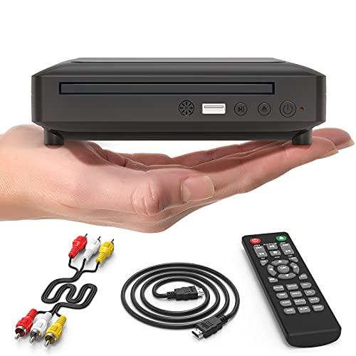 Ceihoit DVD-Player für TV Mini HD DVD CD Player mit 1080P Upscaling,...