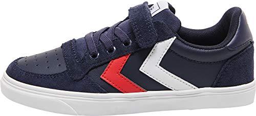Hummel Unisex-Kinder Slimmer Stadil Leather Low Jr Sneaker Niedrig,...