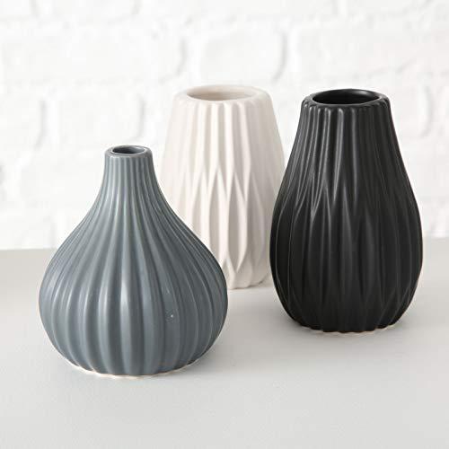 Vase Kelso 3sort H11 D9cm Farbmix Steingut