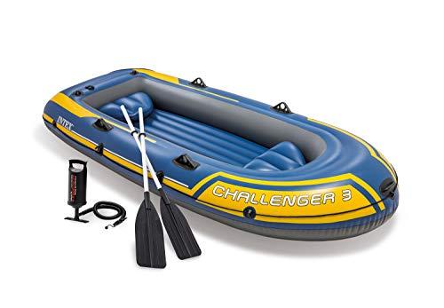 Intex Challenger 3 Set Schlauchboot - 295 x 137 x 43 cm - 3-teilig -...