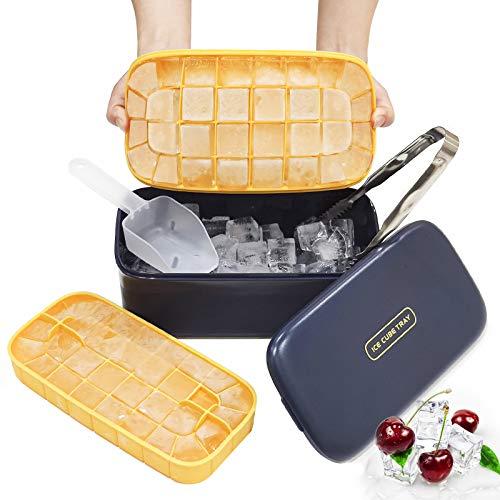 Baozun Eiswürfelform Eiswürfelbehälter mit Deckel Eiswürfel Eisbox...