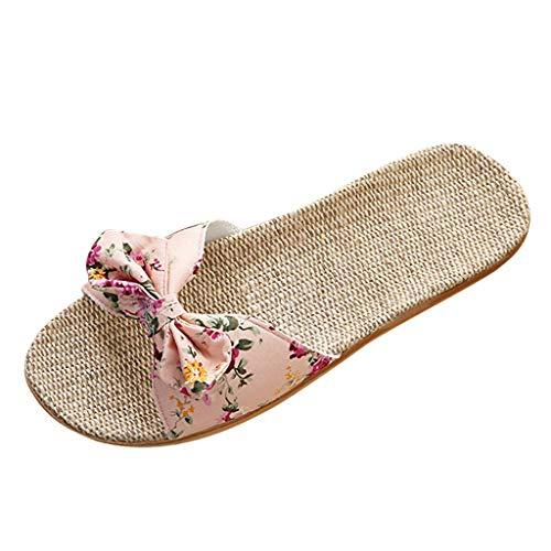 PPangUDing Sandalen Hausschuhe Damen Sommer Mode Bohemian Blume flache...