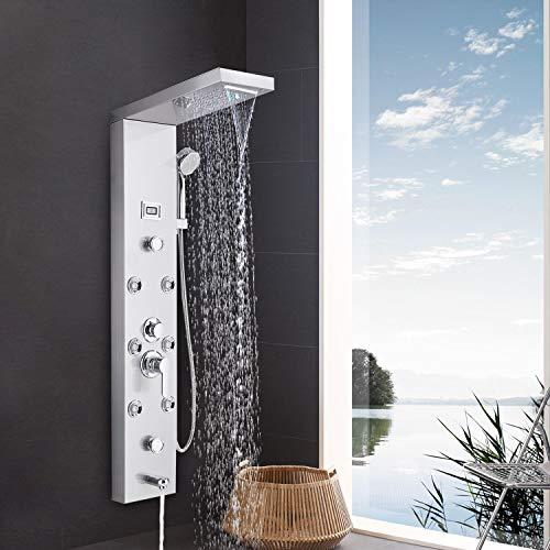 Suguword Edelstahl Duschsystem 5 Funktionen Duschpaneel Duschset,...