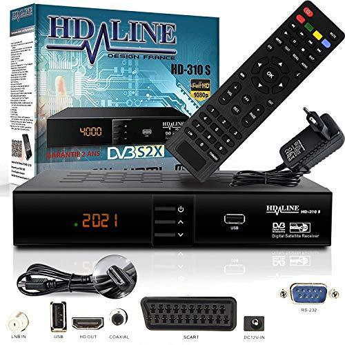 HD-LINE HDMI Receiver Satellit HD Digitaler Satelliten Receiver HDMI...