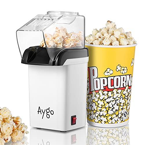 Aygo Popcorn-Maschine, Heißluft Popcorn-Maker für fettfreie...