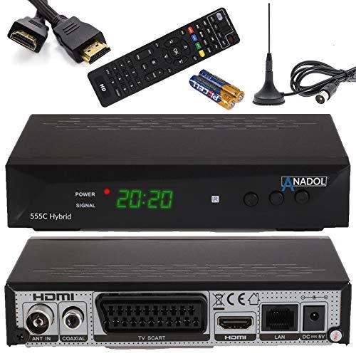 Anadol HD 555c - HDTV Kabel-Receiver & DVB-T Receiver - DVB-T2 / DVB-C...