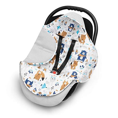 EliMeli EINSCHLAGDECKE für Babyschale Baby Decke für Autositz und...