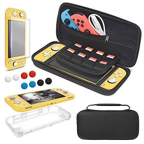 Tragetasche für Nintendo Switch Lite, 4 in 1 Zubehör Bundle Tasche...