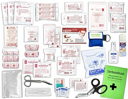Komplett-Set Erste-Hilfe DIN 13157 EN 13 157 PLUS 4 für Betriebe mit...