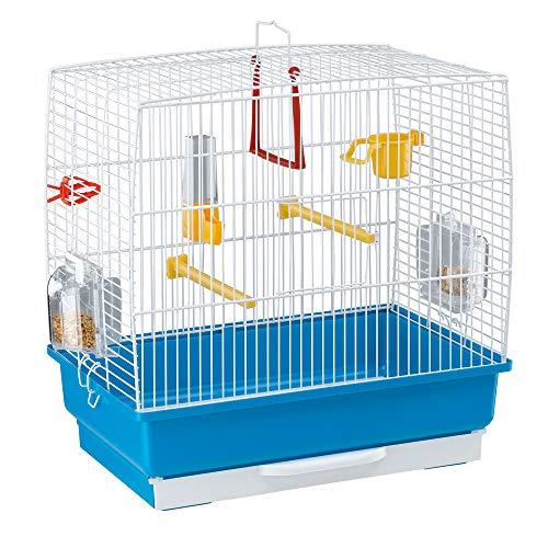 Ferplast Rechteckiger Käfig für kleine exotische Vögel und...