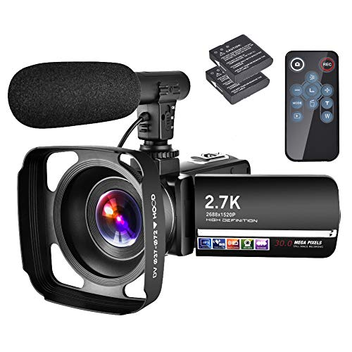 Videokamera Video Camcorder 2.7K Camcorder 30MP YouTube Kamera 18X...