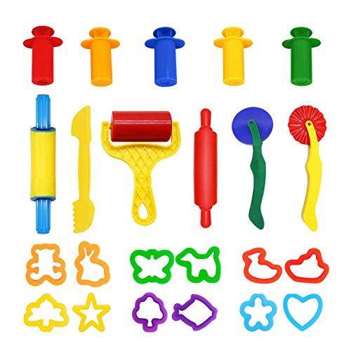 WonderforU Knetwerkzeug Teig Plastilin Werkzeuge, Knete zubehör...