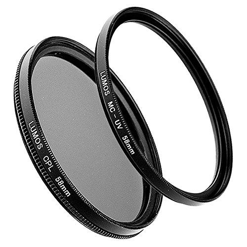 LUMOS 58mm Polfilter zirkular + MC UV-Filter | Zubehör Set für Canon...