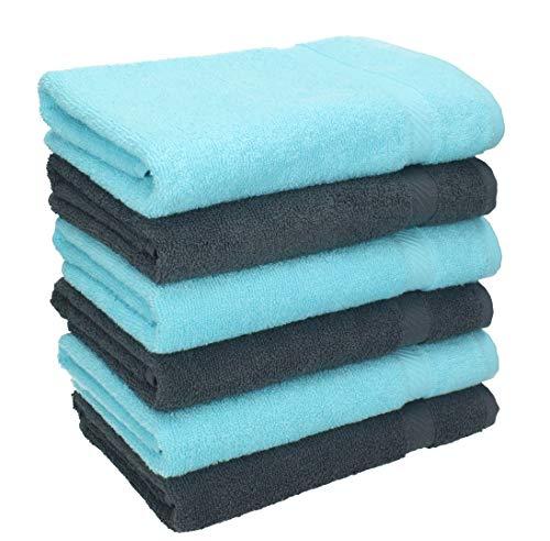 Betz 6 Stück Handtücher Palermo 100% Baumwolle Größe 50 x 100 cm...