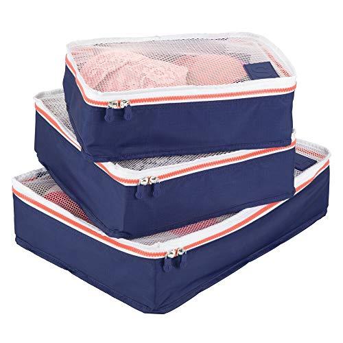 mDesign 3er-Set Aufbewahrungsbox mit Reißverschluss – Packtasche...