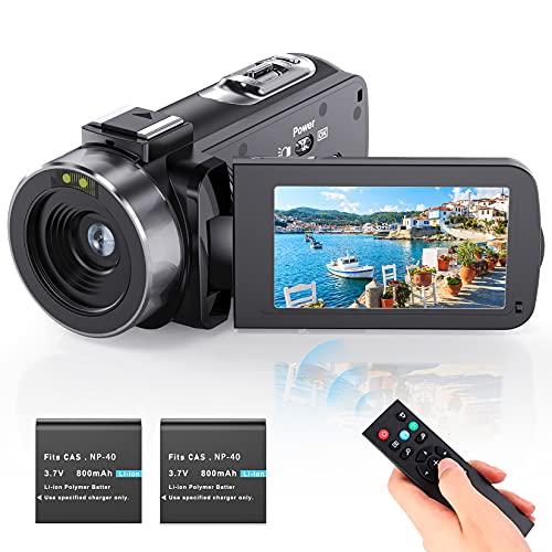 Videokamera Camcorder Vlogging Kamera YouTube Camera HD 1080P 24.0MP...