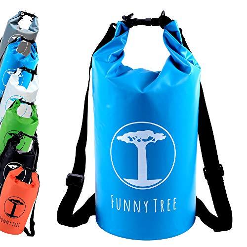 Funny Tree® Drybag. (10L blau) Wasserdichter (IPx6), verbesserter...