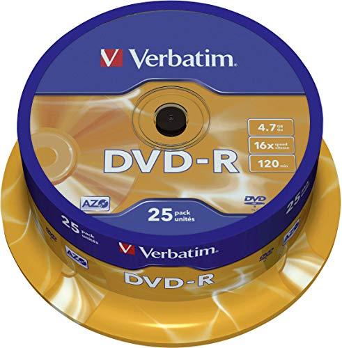 Verbatim DVD-R 16x Matt Silver 4.7GB I 25er Pack Spindel I DVD...