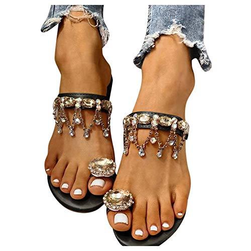 Sandalen Damen mit Absatz Dasongff Sommer Pumps High Heels Sandaletten...