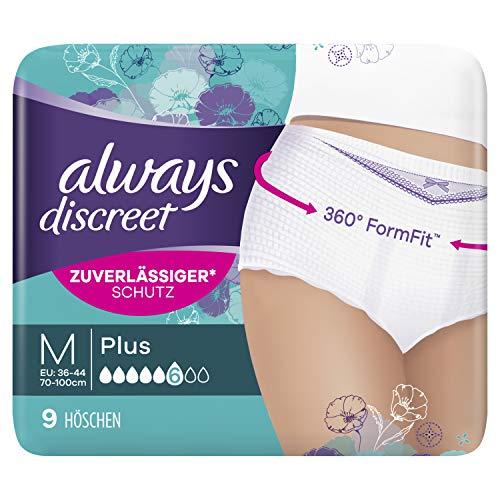 Always Discreet Inkontinenz Pants Gr. M (9 Höschen) Plus, Diskreter...