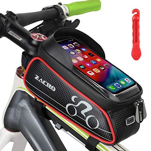 Zacro 3 in 1 Fahrrad Rahmentasche - Wasserdicht Handyhalter Fahrrad...