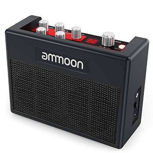 Gitarrenverstärker ammoon Mini Combo Amp Portable Verstärker für...