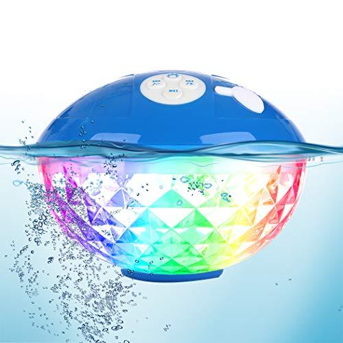 Tragbare Bluetooth Lautsprecher Farblicht, Schwimmend Dusche...