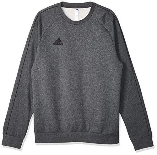adidas Herren CORE18 SW TOP Sweatshirt, Dark Grey Heather/Black, XL