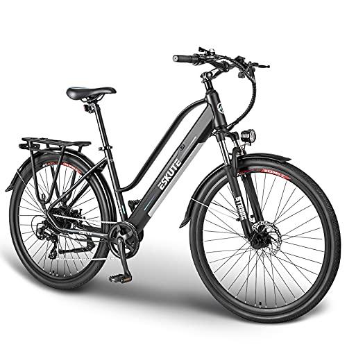 ESKUTE Elektrofahrrad 28 Zoll Pedelec E-Citybike Wayfarer E-Bike mit...