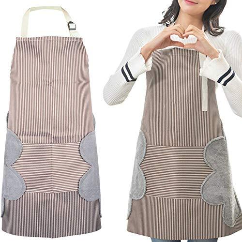 Nuluxi Wasserfest Küchenschürze mit Tasche Extra Lange Bänder...