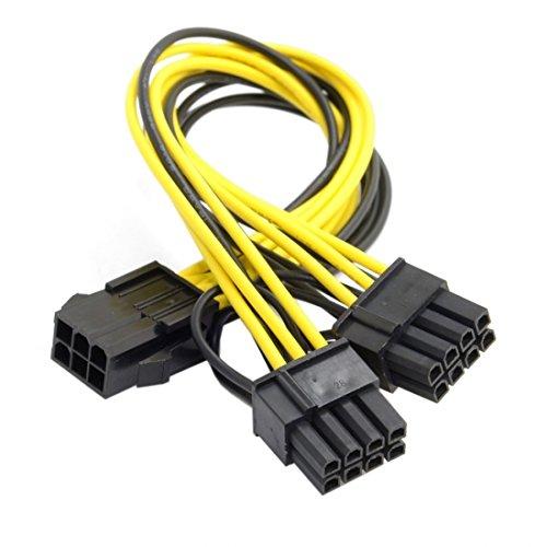 Chenyang PCI-E PCI Express ATX 6-poliger Stecker auf Dual 8-polige und...