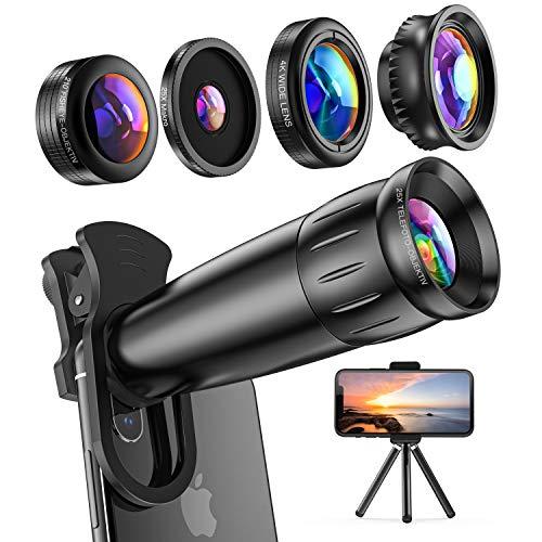 LIERONT Handy Objektiv Kamera Linse Kit,5 in 1 Universal Zoom...