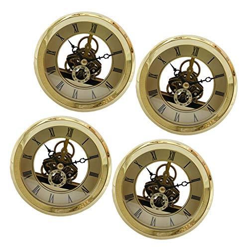 Baoblaze 4er Quarzuhr Tischuhr Uhr Einfügen DIY Zubehör 103 mm