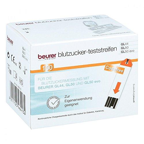 Beurer Blutzuckerteststreifen GL44 und GL50, 100 St