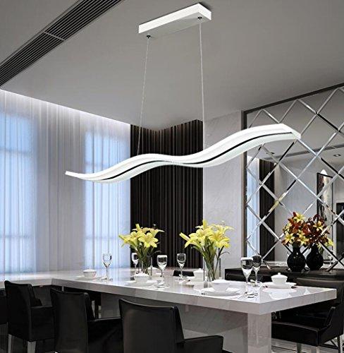 LED Pendelleuchte Dimmbar Moderne Kronleuchter Deckenleuchten Welle...