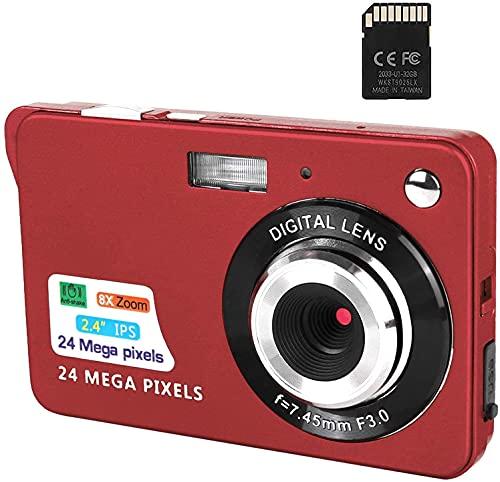 Digitalkamera, 2,4-Zoll-FHD-Taschenkameras Wiederaufladbare...
