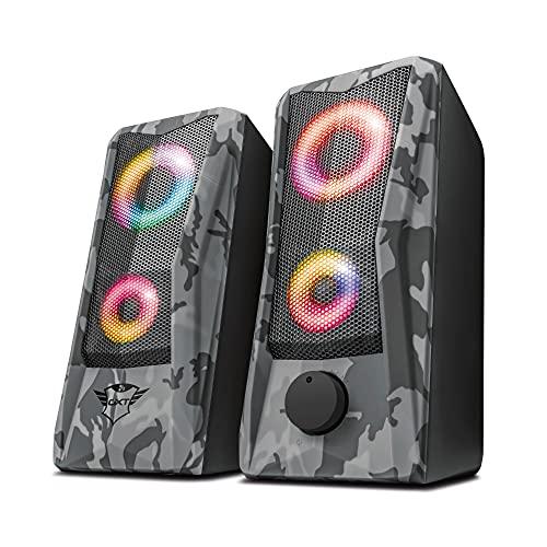 Trust GXT 606 Javv Gaming USB Lautsprecher (RGB-Beleuchtung, 12W, für...