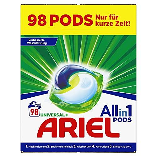 Ariel Waschmittel Pods All-in-1, 98 Waschladungen (2 x 49) Universal...