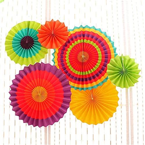 QFDM DIY Dekoration Pappe Papier Blume Fan Festival Dekoration...
